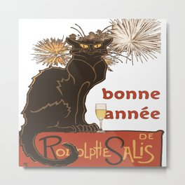 Bonne Annee Happy New Year Parody Metal Print