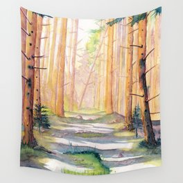 Down The Forest Path Wall Tapestry