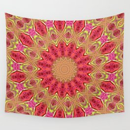 Pink and Green Mandala Kaleidoscope A419 Wall Tapestry