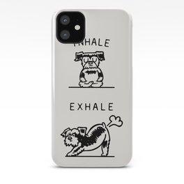 Inhale Exhale Schnauzer iPhone Case
