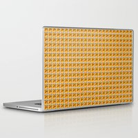 mario bros Laptop & iPad Skins featuring Collective Mario Bros. Blocks by Rebekhaart