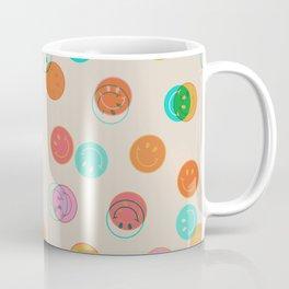 Smiley Face Stamp Print Coffee Mug