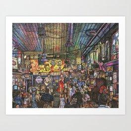Nashville Nights Art Print