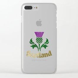 Scottish emblem thistle Clear iPhone Case