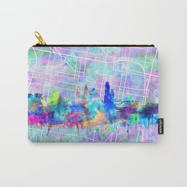 philadelphia city skyline watercolor Carry-All Pouch