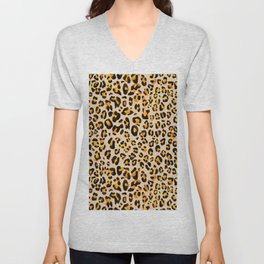 watercolor leopard pattern Unisex V-Neck