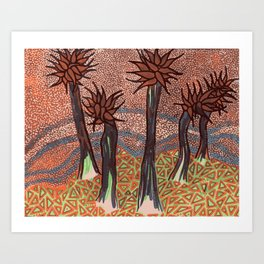 Ab-original Plant Life Art Print