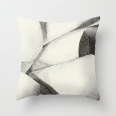 Ribbon - Pen & Ink Illustration Throw Pillow