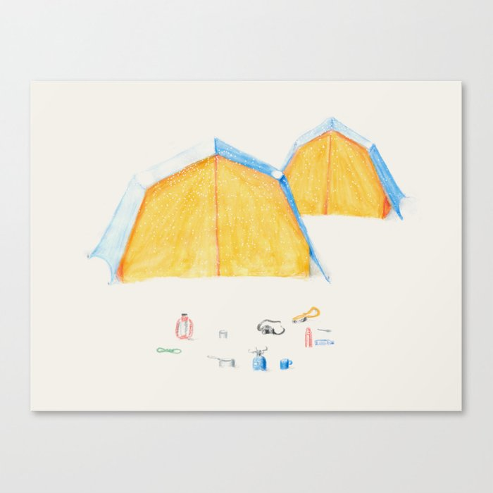 Le Camping Canvas Print