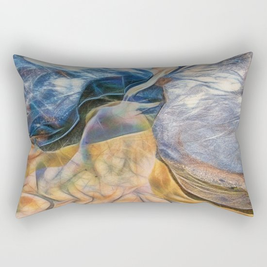 Abstract beautiful rocks on the sand Rectangular Pillow