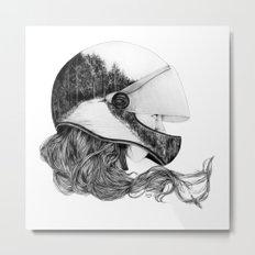 Longboard Girl Metal Print