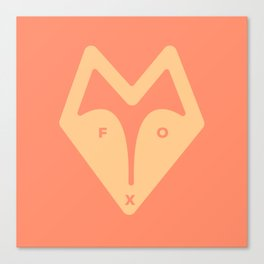 Minimal FOX Canvas Print