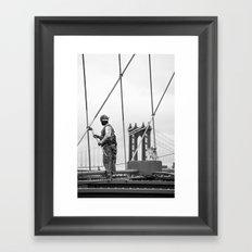 Painting the Brooklyn Bridge Framed Art Print