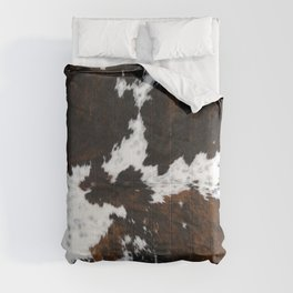 white and brown cow skin cowhide  fur Comforters