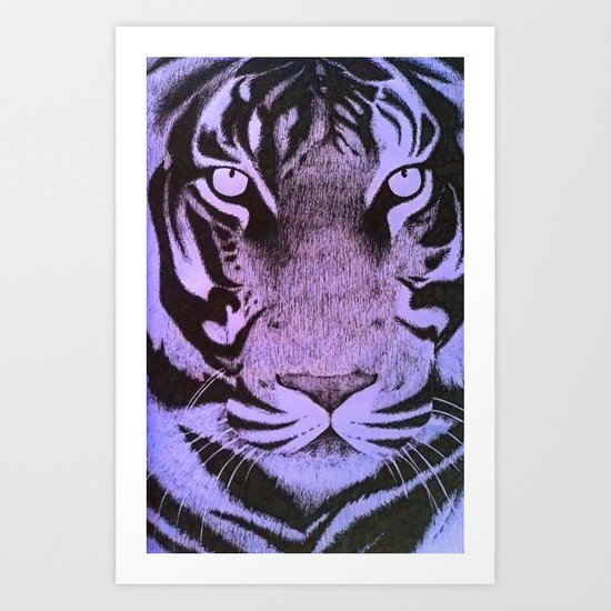 Be a Tiger (Purple) Art Print