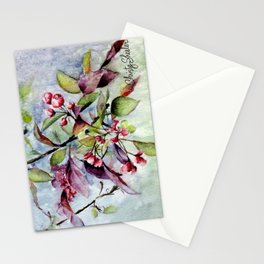 Branch With Blossoms Watercolor Stationery Cards