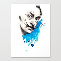 dali Canvas Prints featuring Dali by Mitja Bokun