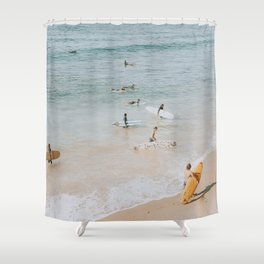 lets surf iii Shower Curtain