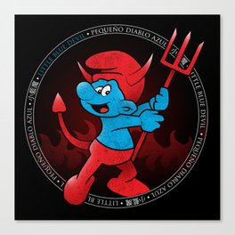 The Little Blue Devil Canvas Print