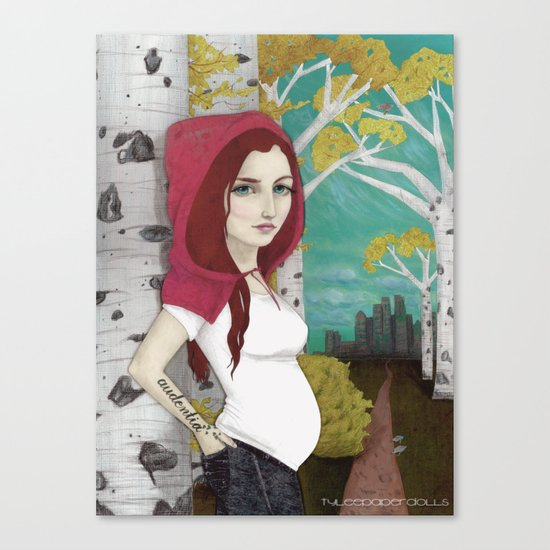 """Little Red Runaway"" Canvas Print"