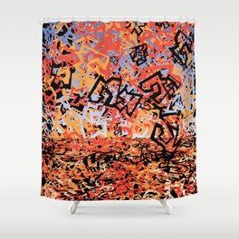 Shattering Sky Shower Curtain