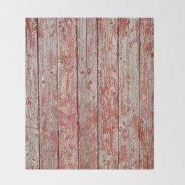 Rustic red wood Throw Blanket