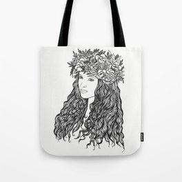 La demoiselle des fleurs Tote Bag