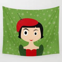 amelie Wall Tapestries featuring Amelie by Creo tu mundo
