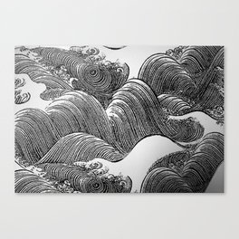 Japanese Waves Canvas Print