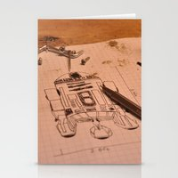 r2d2 Stationery Cards featuring R2D2 by radiantlee