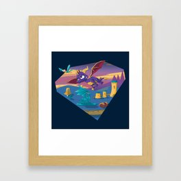 Spyro The Dragon Framed Art Print