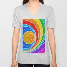 spiral couleur 6 Unisex V-Neck