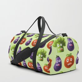 Funny Cartoon Vegetables Duffle Bag