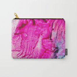 Pink abstract flowers Carry-All Pouch