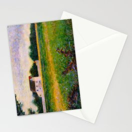 Landscape of the Ile de France Post-Impressionism landscape Oil Painting Countryside Cottages Farm Stationery Cards