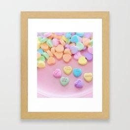 Valentine Candy Framed Art Print