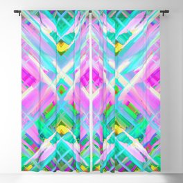 Colorful digital art splashing G473 Blackout Curtain