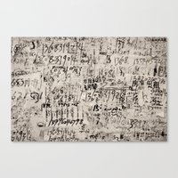 numbers Canvas Prints featuring numbers. by RAIKO IVAN雷虎