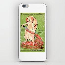 """The Prodigious Pig - Auvergne Sausage's """"Les Bons Saucissons du Cochon Prodigue"""" (Distressed) iPhone Skin"""