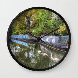 Narrow Boats Little Venice London Wall Clock