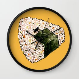 Onigiri Snooze Wall Clock