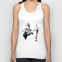 giraffes Tank Tops featuring Giraffes  by Digital-Art