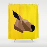 kangaroo Shower Curtains featuring Kangaroo by BMaw