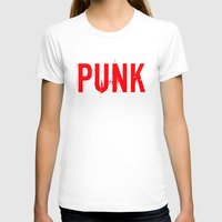 punk T-shirts featuring PUNK by Silvio Ledbetter