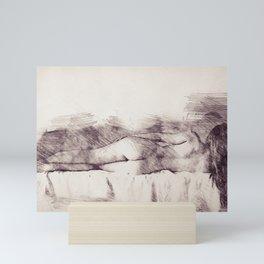 Lying on the bed. Nude studio Mini Art Print