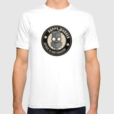 Happy Worker Mens Fitted Tee SMALL White