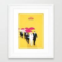 gatsby Framed Art Prints featuring Gatsby by Fräulein Fisher