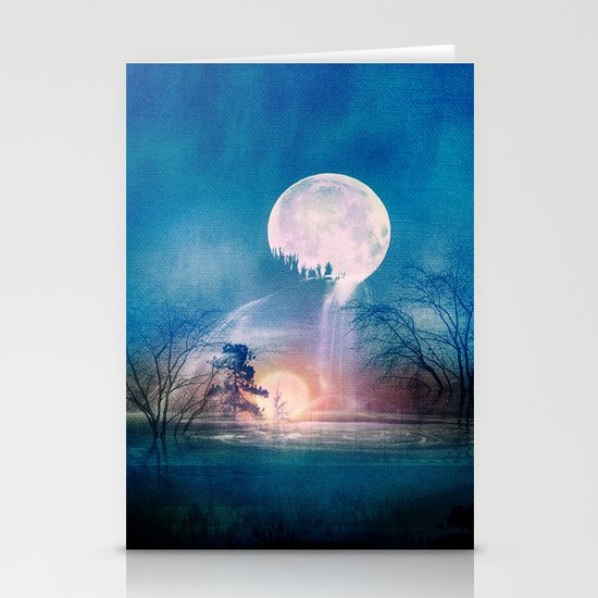 Moon Above, Sun Below Stationery Cards