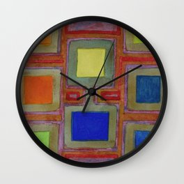 Colorful Screens on the Shelf Wall Clock