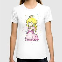 princess peach T-shirts featuring Princess Peach by Olechka